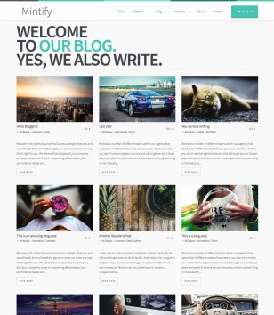 Mintify Blogger Templates