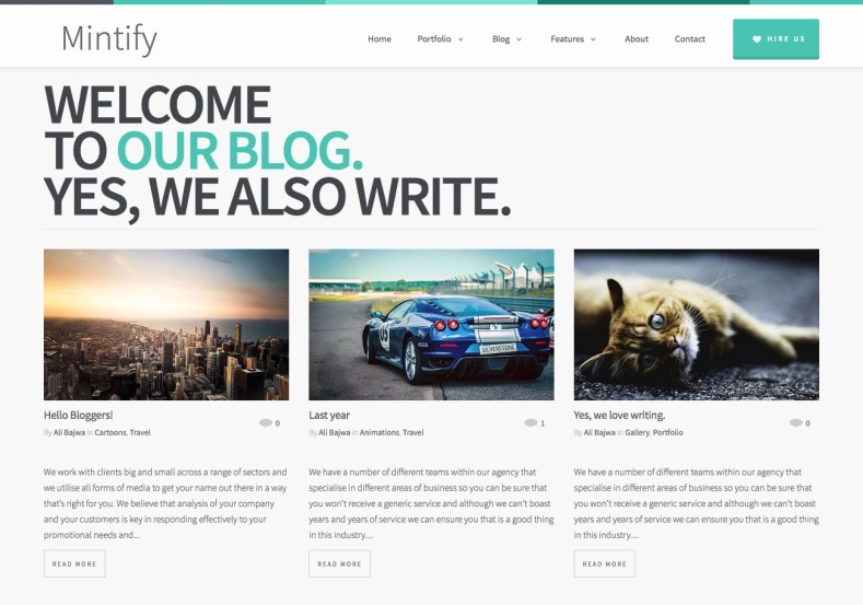 mintify Blogger Template premium blogger template