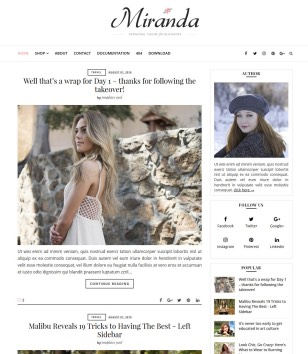Miranda Blogger Templates