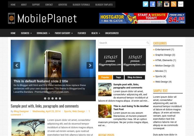 MobilePlanet Blogger Template. Blogger Themes. Best suitable for news blog templates. Ads ready blogspot templates help for add adsense ad code and easily showing adsence ads in your blog. Adapted from WordPress templates are converted from WordPress themes. It is help for take your rich. Blogger magazine template specially designed for magazine blogs. The writers can utilize this themes for take blog attractive to users. Elegant themes are more used themes in most of the blogs. Minimalist blog templates. Free premium blogger themes means, themes authors release two types of themes. One is premium another one is free. Premium templates given for cost but free themes given for no cost. You no need pay From California, USA. $10 USD, or $20 USD and more. But premium buyers get more facilities from authors But free buyers. If you run game or other animation oriented blogs, and you can try with Anime blog templates. Today the world is fashion world. So girls involve to the criteria for make their life fashionable. So we provide fashion blogger themes for make your fashionable. News is most important concept of the world. Download news blogger templates for publishing online news. You can make your blog as online shopping store. Get Online shopping store blogger template to sell your product. Navigation is most important to users find correct place. Download drop down menu, page navigation menu, breadcrumb navigation menu and vertical dropdown menu blogspot themes for free. Google Guide. Blogging tips and Tricks for bloggers. Google bloggers can get blogspot trick and tips for bloggers. Blog templates portfolio professional blogspot themes, You can store your life moments with your blogs with personal pages templates. Video and movie blogs owners get amazing movie blog themes for their blogs. Business templates download. We publish blogger themes for photographers. Photographers easily share photos via photography blog themes. St valentine Christmas Halloween templates. Download Slideshow slider templates for free. Under construction coming soon custom blogspot template. Best beautiful high quality Custom layouts Blog templates from templateism, SoraTemplates, templatetrackers, simple, cute free premium professional unique designs blog themes blogspot themes. Seo ready portfolio anime fashion movie movies health custom layouts best download blogspot themes simple cute free premium professional unique designs xml html code html5.