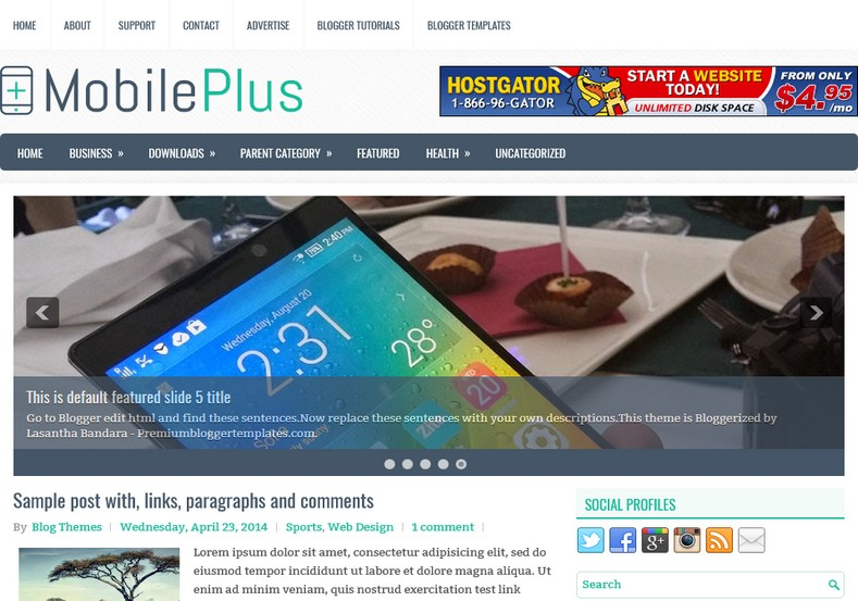 MobilePlus Blogger Template free download best blogspot themss 2018