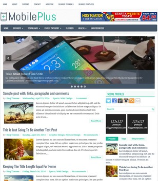 MobilePlus Blogger Template. Blogger Themes. Free Blogspot templates for your blogger blog. Best suitable for news blog templates. Ads ready blogspot templates help for add adsense ad code and easily showing adsence ads in your blog. Adapted from WordPress templates are converted from WordPress themes. It is help for take your rich. Blogger magazine template specially designed for magazine blogs. The writers can utilize this themes for take blog attractive to users. Elegant themes are more used themes in most of the blogs. Minimalist blog templates. Free premium blogger themes means, themes authors release two types of themes. One is premium another one is free. Premium templates given for cost but free themes given for no cost. You no need pay From California, USA. $10 USD, or $20 USD and more. But premium buyers get more facilities from authors But free buyers. If you run game or other animation oriented blogs, and you can try with Anime blog templates. Today the world is fashion world. So girls involve to the criteria for make their life fashionable. So we provide fashion blogger themes for make your fashionable. News is most important concept of the world. Download news blogger templates for publishing online news. You can make your blog as online shopping store. Get Online shopping store blogger template to sell your product. Navigation is most important to users find correct place. Download drop down menu, page navigation menu, breadcrumb navigation menu and vertical dropdown menu blogspot themes for free. Google Guide. Blogging tips and Tricks for bloggers. Google bloggers can get blogspot trick and tips for bloggers. Blog templates portfolio professional blogspot themes, You can store your life moments with your blogs with personal pages templates. Video and movie blogs owners get amazing movie blog themes for their blogs.  Business templates download. We publish blogger themes for photographers.  Photographers easily share photos via photography blog themes. St valentine Christmas Halloween templates. Download Slideshow slider templates for free.  Under construction coming soon custom blogspot template. Best beautiful high quality Custom layouts Blog templates from templateism, soratemplates, templatetrackers, simple, cute free premium professional unique designs blog themes blogspot themes. Seo ready portfolio anime fashion movie movies health custom layouts best download blogspot themes simple cute free premium professional unique designs xml html code html5.