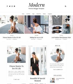 Modern Sidebar Blogger Templates