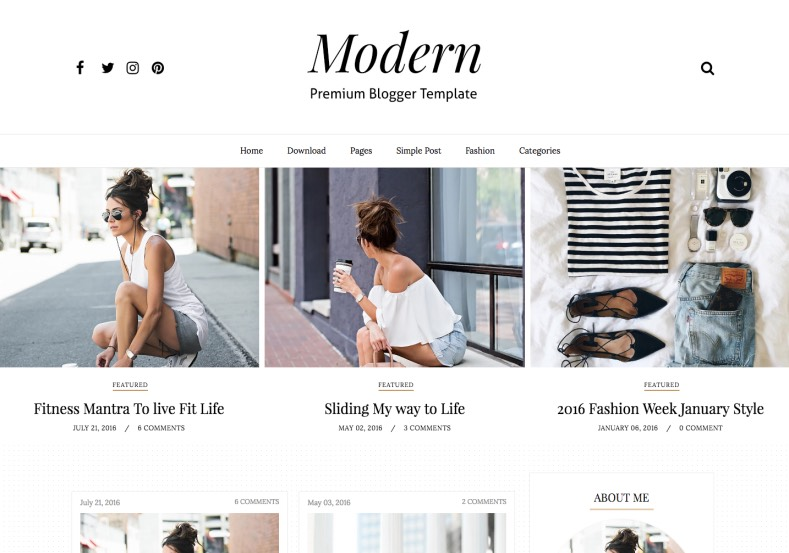 Modern Sidebar Blogger Template. Latest free blogger templates 2017 for latest designed layout building blogger template mainly designed for blogging and magazine blog. Modern Sidebar Blogger Template.