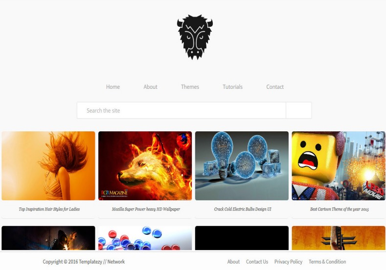Modren Portfolio Flat Gallery Blogger Template. Blogger Themes. Free  Blogspot Templates For Your Blogger