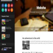 Moksha Responsive Blogger Templates