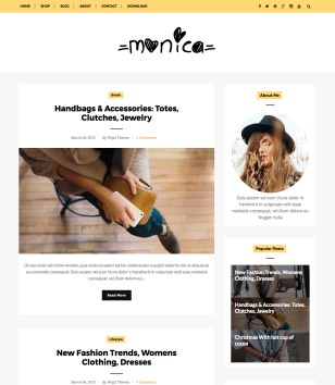 Monica Clean Blogger Templates