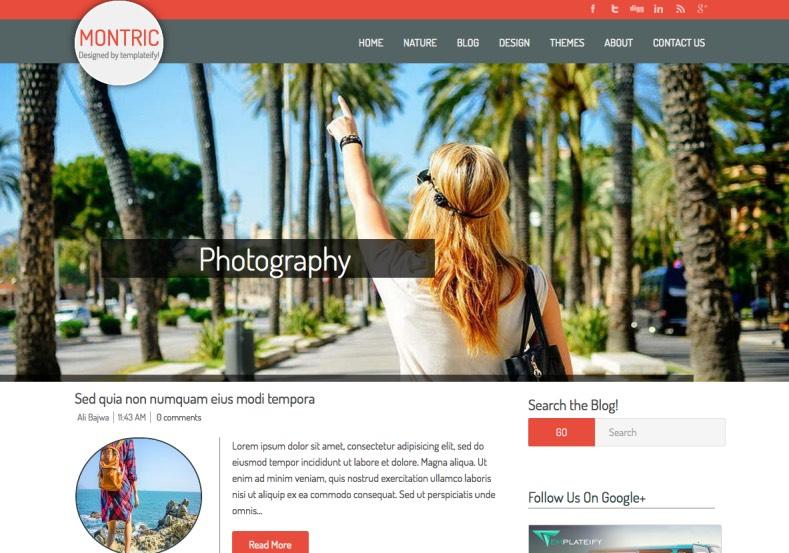 Montric Blogger Template premium blogger templates