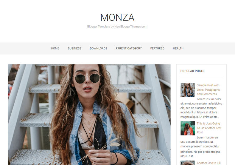 Monza Blogger Template is a simple rsponsive elegant blogspot theme which is very targetted on fashion lover bloggers