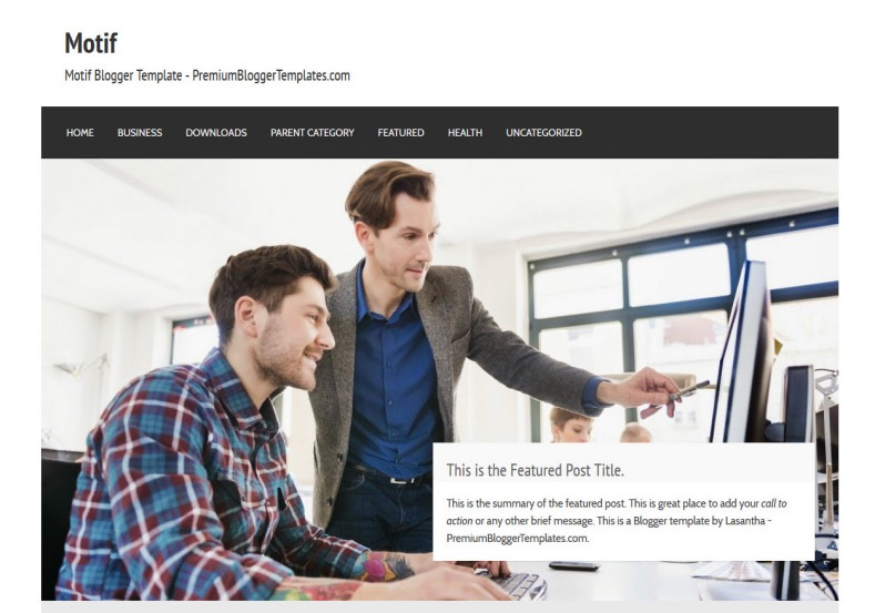 Motif business blogger template blogspot templates 2018 motif business blogger template blogger themes free blogspot templates for your blogger blog cheaphphosting Images