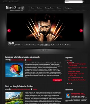 MovieStar Blogger Templates