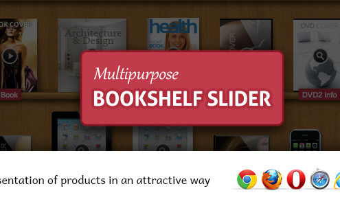 Multipurpose Bookshelf Slider - jQuery Plugin