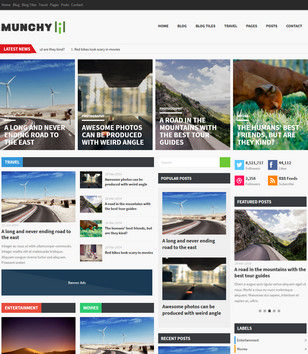 Munchy Mag Responsive Blogger Templates