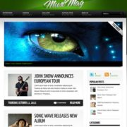 MusiMag Green Skin Blogger Templates