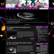 Music Zone Blogger Templates