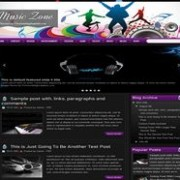 Music Zone Blogger Template
