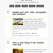 My Notes Blogger Templates
