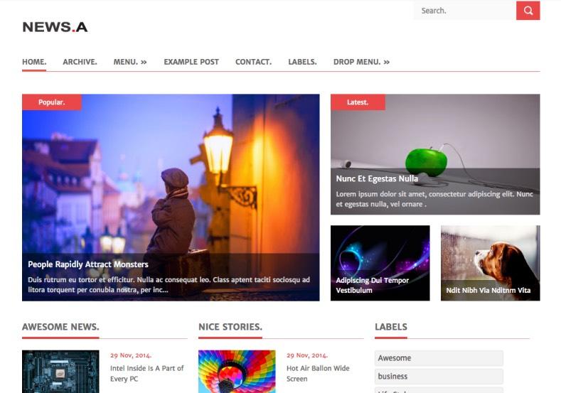 NEWS.A Blogger Template. 2015 NEWS.A Blogger Template premium blogger template