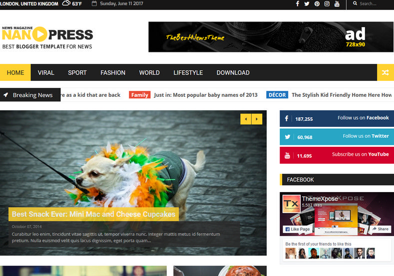 nanopress-slider-blogger-template. Blogger template has multiple layout for getting chance to customize broadly. Yellow colored theme for blogger and blogspot usesr. nanopress-slider-blogger-template.