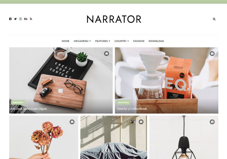 Narrator Blogger Template is a Personal Blogspot Template perfectly suited for websites that deliver content about Travelling, Fashion, Sports, Video, Health, etc