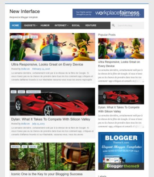 New Interface Blogger Templates