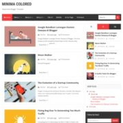New Minima Colored Blogger Templates