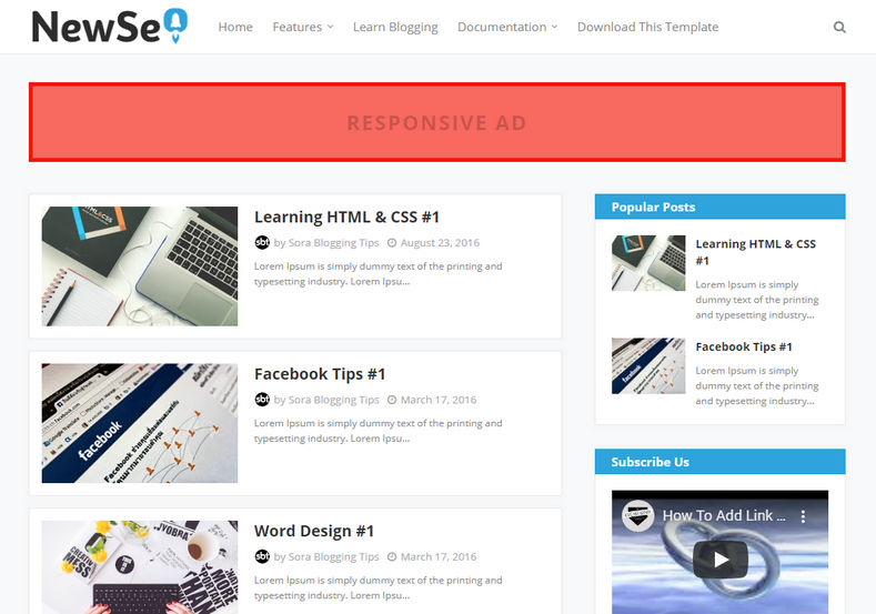 New Seo Blogger Template is a professionally designed very fast loading responsive simple theme with highly optimized codes and layout structure.