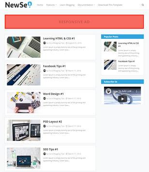 New Seo Blogger Templates