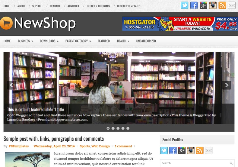 NewShop Blogger Template. Blogger Themes. Best suitable for news blog templates. Ads ready blogspot templates help for add adsense ad code and easily showing adsence ads in your blog. Adapted from WordPress templates are converted from WordPress themes. It is help for take your rich. Blogger magazine template specially designed for magazine blogs. The writers can utilize this themes for take blog attractive to users. Elegant themes are more used themes in most of the blogs. Minimalist blog templates. Free premium blogger themes means, themes authors release two types of themes. One is premium another one is free. Premium templates given for cost but free themes given for no cost. You no need pay From California, USA. $10 USD, or $20 USD and more. But premium buyers get more facilities from authors But free buyers. If you run game or other animation oriented blogs, and you can try with Anime blog templates. Today the world is fashion world. So girls involve to the criteria for make their life fashionable. So we provide fashion blogger themes for make your fashionable. News is most important concept of the world. Download news blogger templates for publishing online news. You can make your blog as online shopping store. Get Online shopping store blogger template to sell your product. Navigation is most important to users find correct place. Download drop down menu, page navigation menu, breadcrumb navigation menu and vertical dropdown menu blogspot themes for free. Google Guide. Blogging tips and Tricks for bloggers. Google bloggers can get blogspot trick and tips for bloggers. Blog templates portfolio professional blogspot themes, You can store your life moments with your blogs with personal pages templates. Video and movie blogs owners get amazing movie blog themes for their blogs.  Business templates download. We publish blogger themes for photographers.  Photographers easily share photos via photography blog themes. St valentine Christmas Halloween templates. Download Slideshow slider templates for free.  Under construction coming soon custom blogspot template. Best beautiful high quality Custom layouts Blog templates from templateism, soratemplates, templatetrackers, simple, cute free premium professional unique designs blog themes blogspot themes. Seo ready portfolio anime fashion movie movies health custom layouts best download blogspot themes simple cute free premium professional unique designs xml html code html5.
