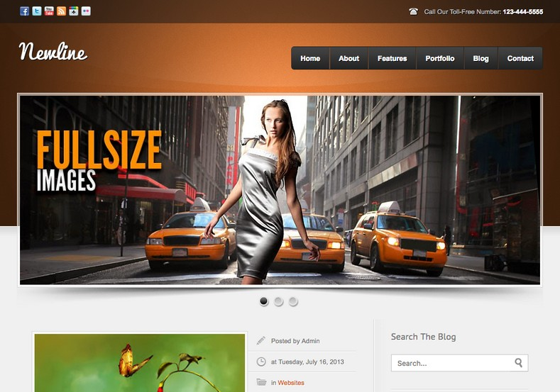 Newline Blogger Template free