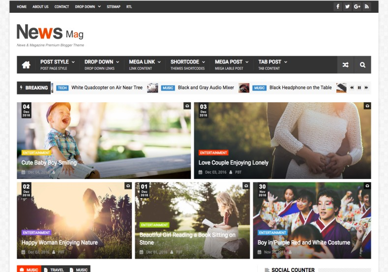 News Mag Blogger Template. Built amazing news blogs with specially designed premium news blogger templates 2017 for news and magazine blogger blogs. News Mag Blogger Template.