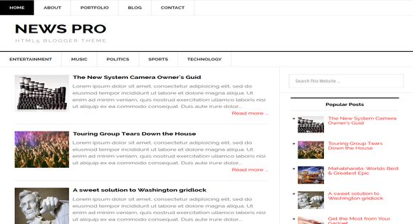 Download news pro responsive blogger template torrent for Pro photo blog templates