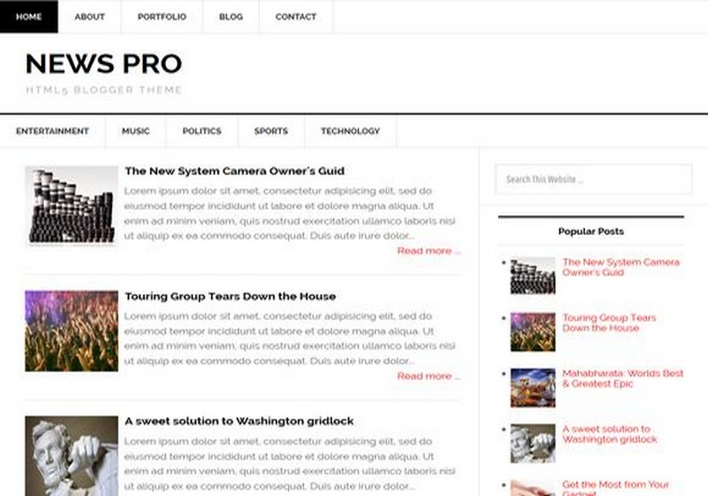 News Pro Responsive Blogger Template 2014 Free Download