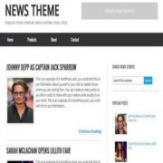 News Theme Blogger Templates