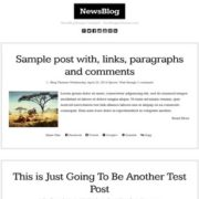 NewsBlog Blogger Templates