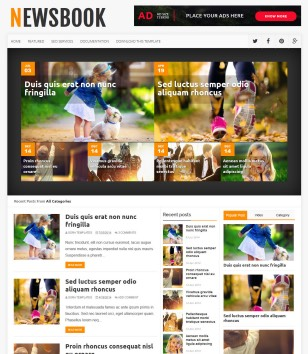 NewsBook Blogger Templates
