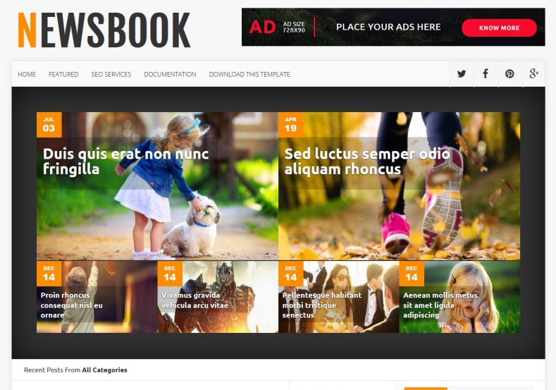 NewsBook Blogger Template. 2015 free blogger design. blogger themes free