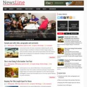 NewsLine Blogger Templates