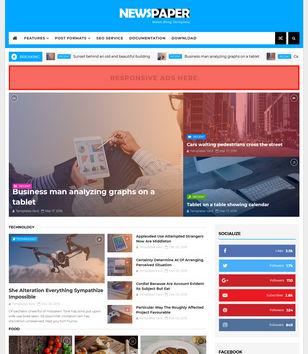 newspaper news blogger template blogspot templates 2018