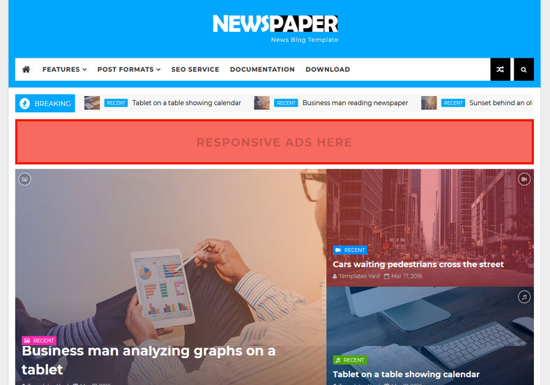 Newspaper News Blogger Template Blogspot Templates 2018