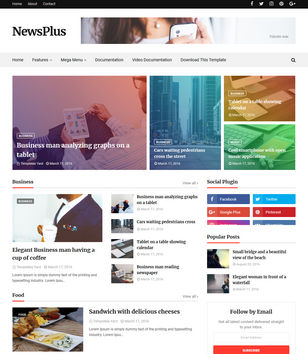 Magazine Blogger Templates Free Download - Online magazine template