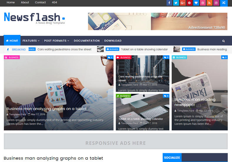 newsflash blogger template blogspot templates 2018