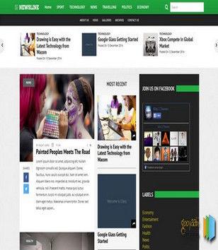 Newsline 3 Columns Blogger Templates