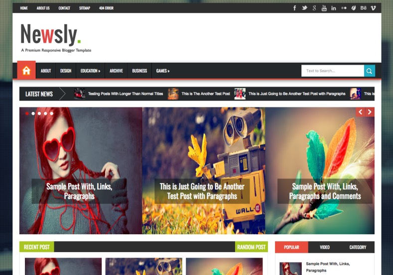 Newsly Blogger Template. Newsly Blogger Template 2015 premium blogger templates