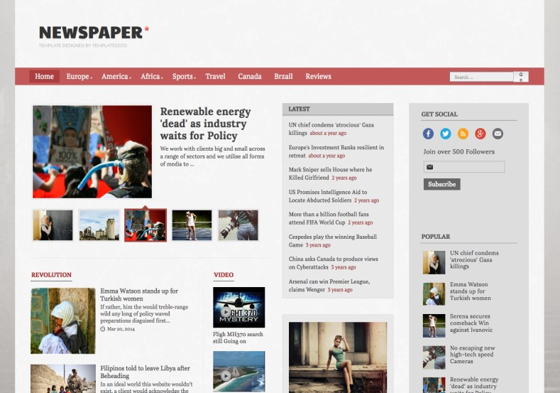 Newspaper Blogger Template - Premium Blogger Template