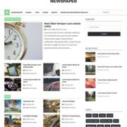 Newspaper Responsive Blogger Templates