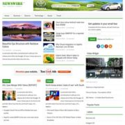Newswire Responsive Blogger Templates