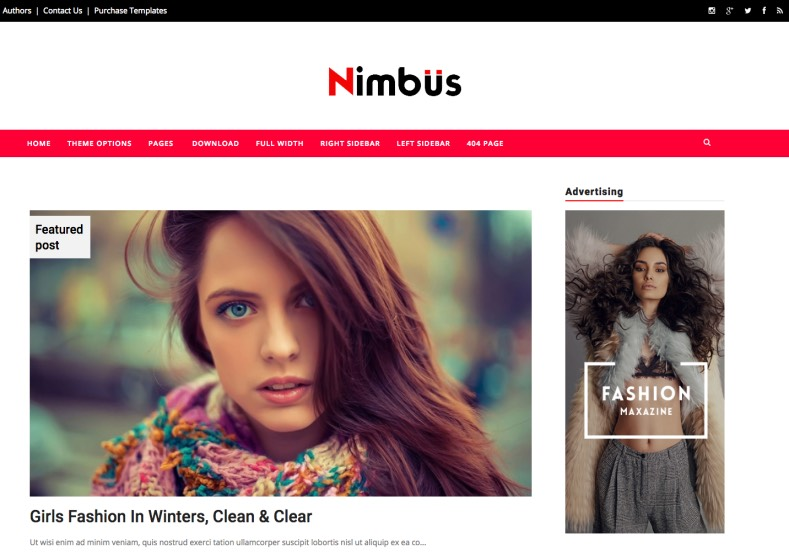 Nimbus Blogger Templates. Free download latest magazine blog templates to renovation of your blogger blog. Nimbus Blogger Template.
