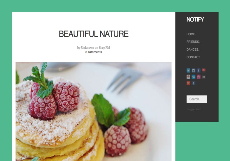 Notify Blogger Template premium blogger template