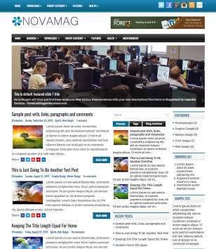 NovaMag Responsive Blogger Templates